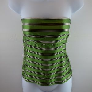 J.CREW Silk Striped Strapless Tube Top